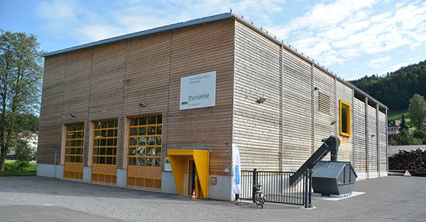 Gebäude des Wärmeverbundes in Wattwil