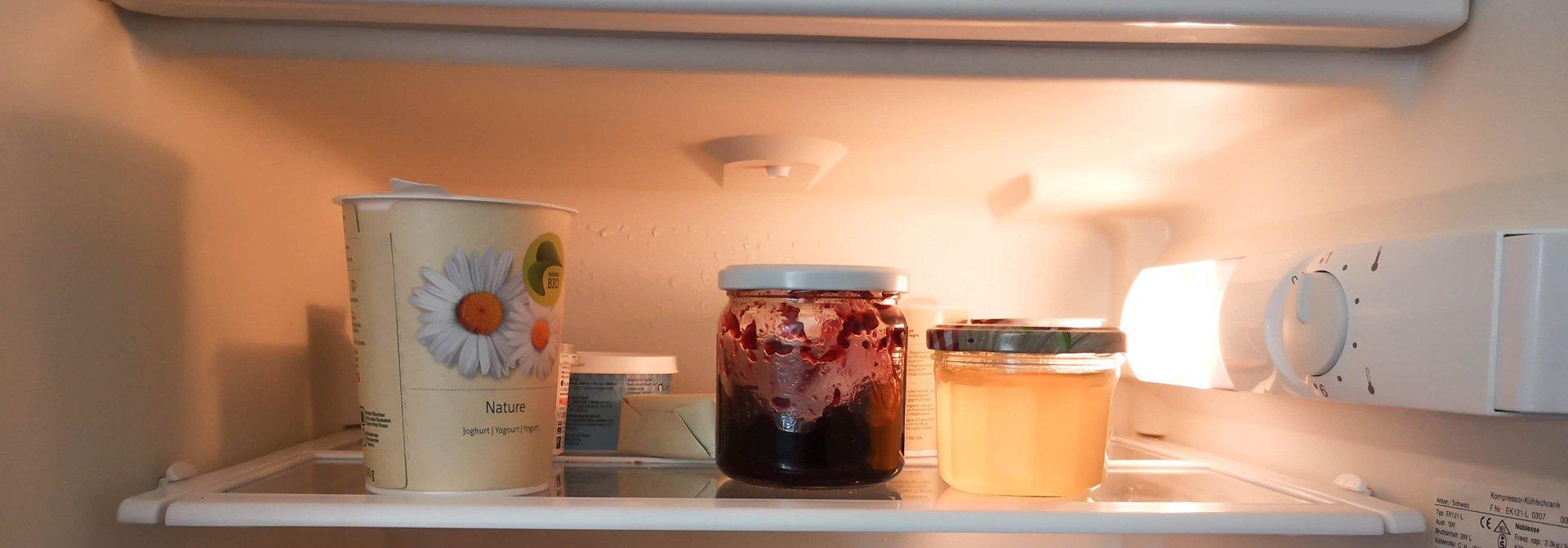 Oberste Ablage eines Kühlschranks