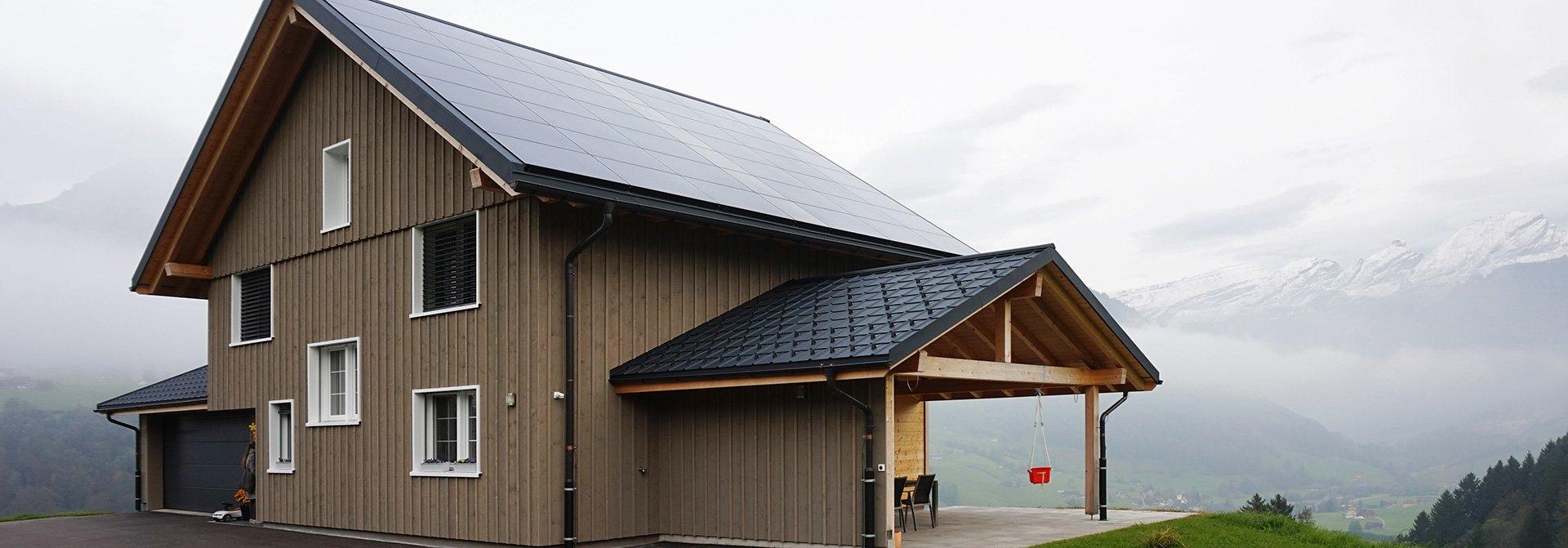Einfamilienhaus mit Photovoltaikanlage