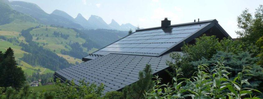 Photovoltaikanlage auf Einfamilienhaus