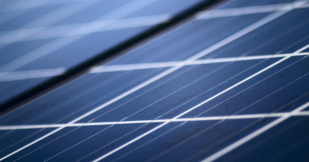 blaue Solarzellen